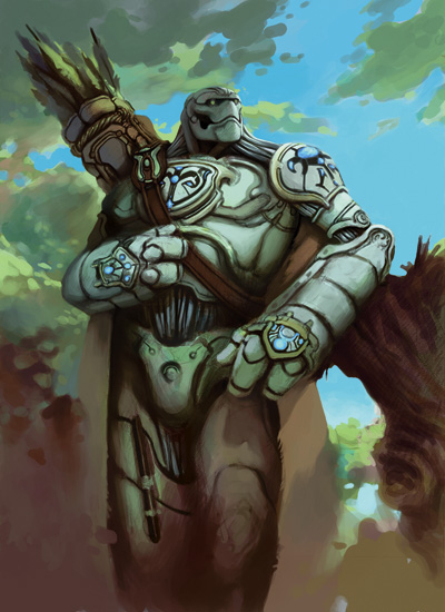 """Spellcarved Soldier"" class illustration from Races of Eberron"